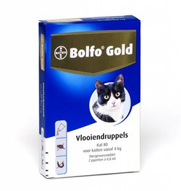 Bolfo Gold Bolfo Gold Kat 80 >4kg - 2 pipetten