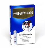 Bolfo Gold Bolfo Gold 100 Hond 4kg-10kg| tegen vlooien 2 pipetten