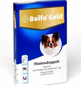 Bolfo Gold Bolfo Gold Hond 40 tot 4kg 2 pipetten