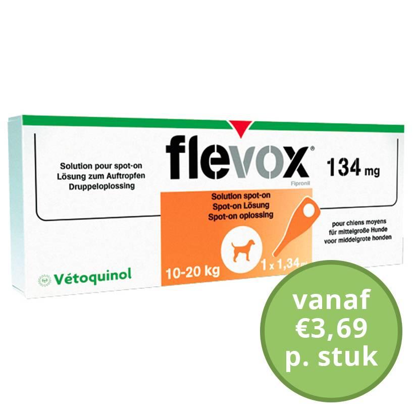 Flevox Flevox Hond M 10 tot 20 kg spot on - per pipet te bestellen