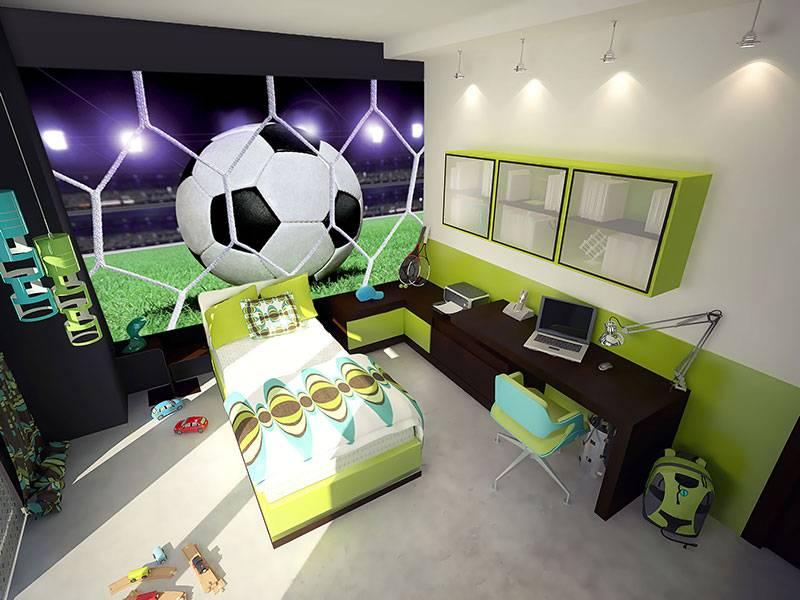 Behang Kinderkamer Voetbal : Kinderbehang walltastic xxl voetbal rap besteld rap besteld