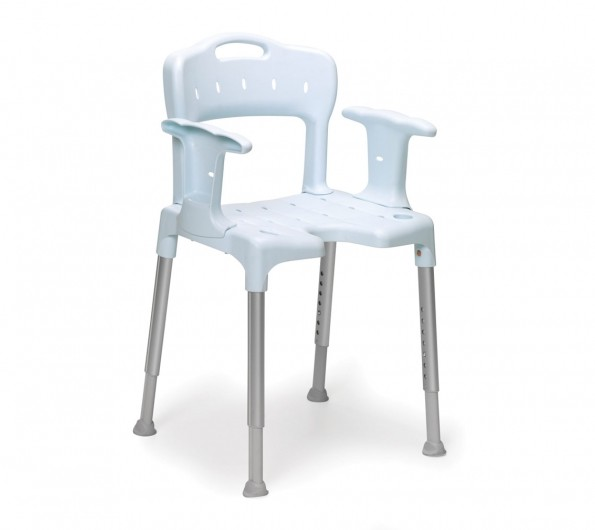 Etac Douchestoel met armleuning en rugleuning grijs