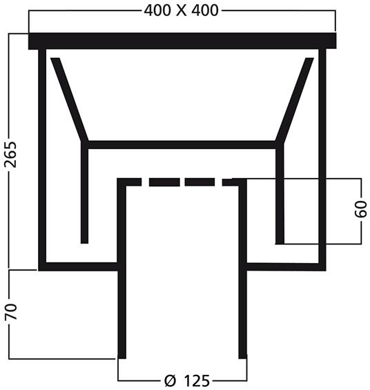 van den Berg Afvoerputten BV Industrieput 400 x 400 mm