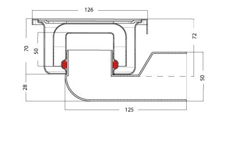 van den Berg Afvoerputten BV Doucheput 126 x 126 mm, 50 mm waterslot