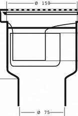 van den Berg Afvoerputten BV PEH Kunststof vinyl put, onderuitlaat 75 mm
