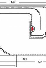 van den Berg Afvoerputten BV RVS 304 put slecht 78 mm hoog