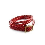 Echtlederarmband in rot