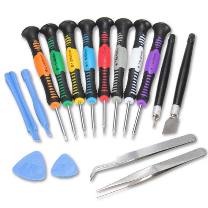 Stuff Certified ® Complete Gereedschap Pro 16 in 1 Tools Tool Kit Outils Screwdriver Schroevendraaier Set - Voor Apple iPhone 4 4S 5 5S 5C 6 6+ 6S+ 7 7+ 8 8+ X Plus