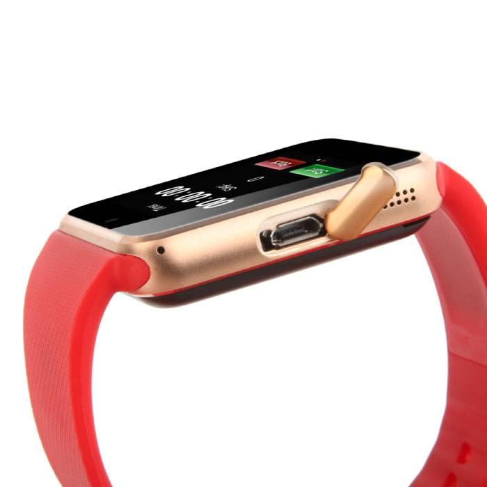 Stuff Certified Originele GT08 Smartwatch Smartphone Horloge Android Rood