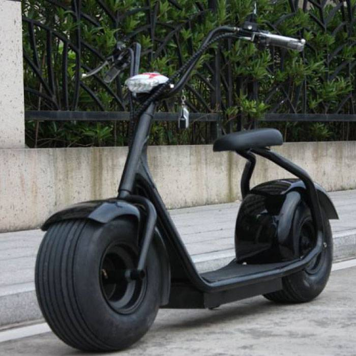 "City Coco Smart E Electric Scooter Harley Pro - 18 ""- 1000W - 12Ah - Black"
