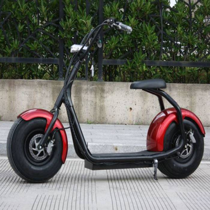 "Citycoco Elektrische Smart E Scooter Pro Harley - 18"" - 1000W - 12Ah - Rood"