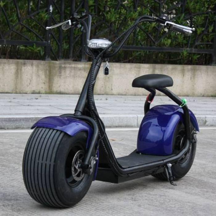 "Citycoco Elektrische Smart e Scooter Pro - 18"" - 1000W - Blauw"