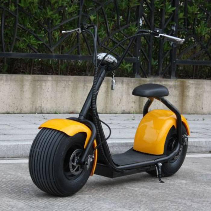 "Citycoco Elektrische Smart e Scooter Pro - 18"" - 1000W - Geel"