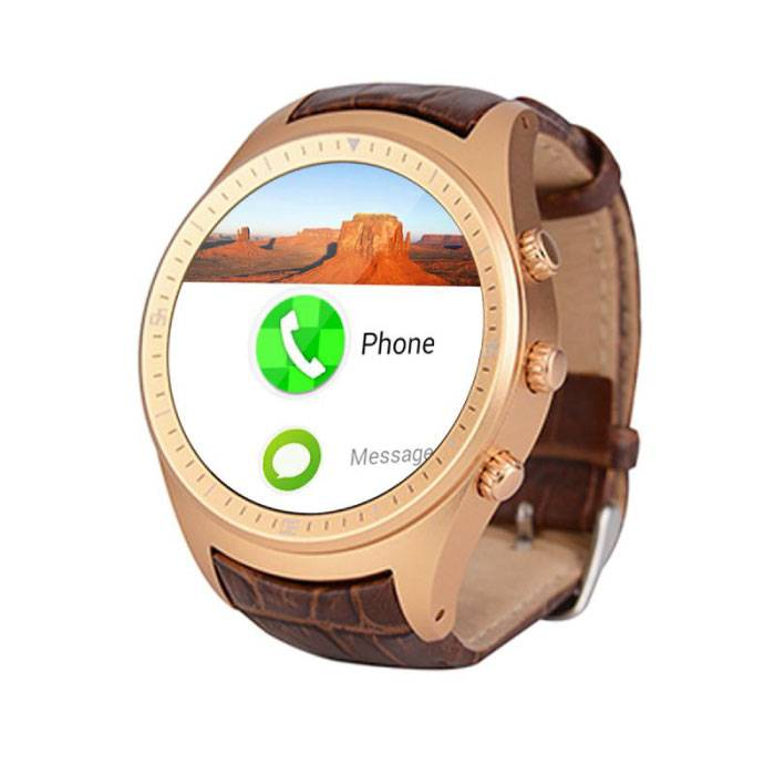 Originele K18 Plus Smartwatch Smartphone Horloge Android Goud
