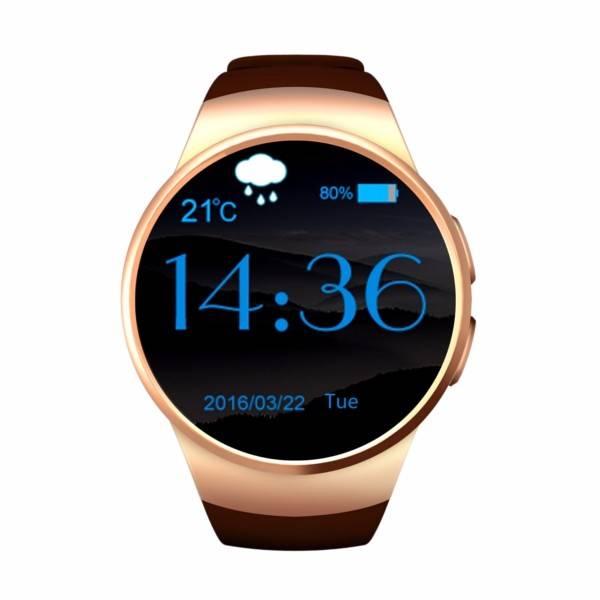 Originele KW18 Smartwatch Smartphone Horloge Android iOS Goud