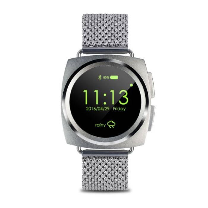 Originele A11 Smartwatch Smartphone Horloge Android iOS Zilver Metaal