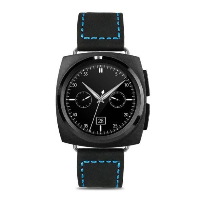 Originele A11 Smartwatch Smartphone Horloge Android iOS Zwart Leer