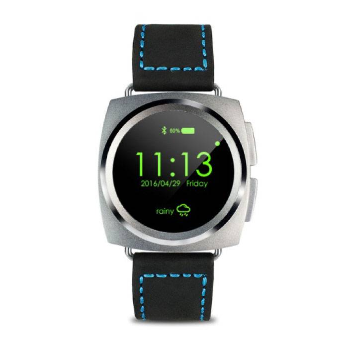 Originele A11 Smartwatch Smartphone Horloge Android iOS Zilver Leer