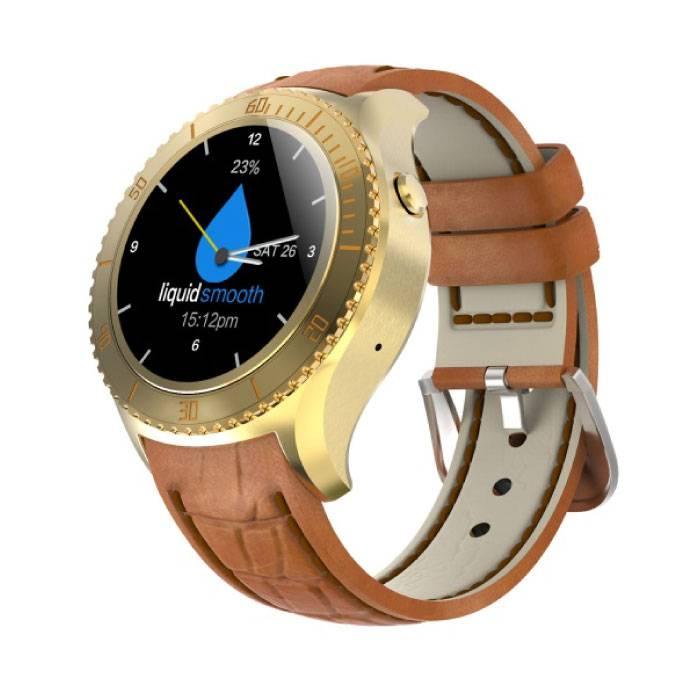 Originele I2 Smartwatch Smartphone Horloge OLED Android iOS Goud