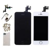 Huismerk Voor Apple iPhone 5S - Voorgemonteerd Scherm (Touchscreen + LCD + Onderdelen) - AAA+ Kwaliteit - Zwart/Wit