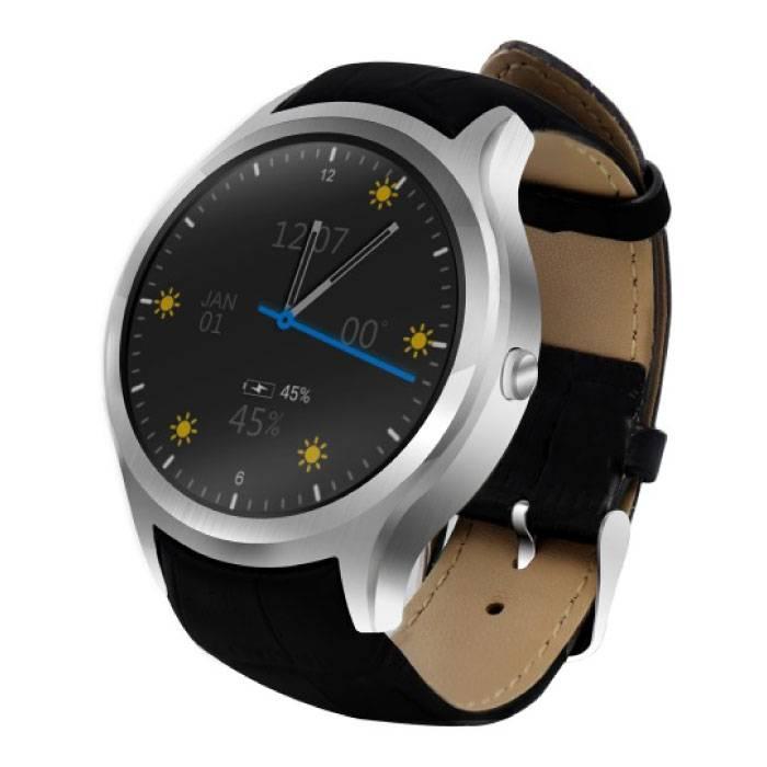 Originele D5 Smartwatch Smartphone Horloge OLED Android Zilver