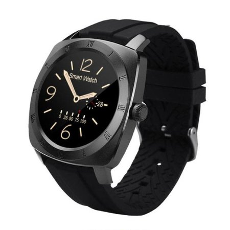 Stuff Certified Originele DM88 Smartwatch Smartphone Horloge Android iOS Zwart TPU