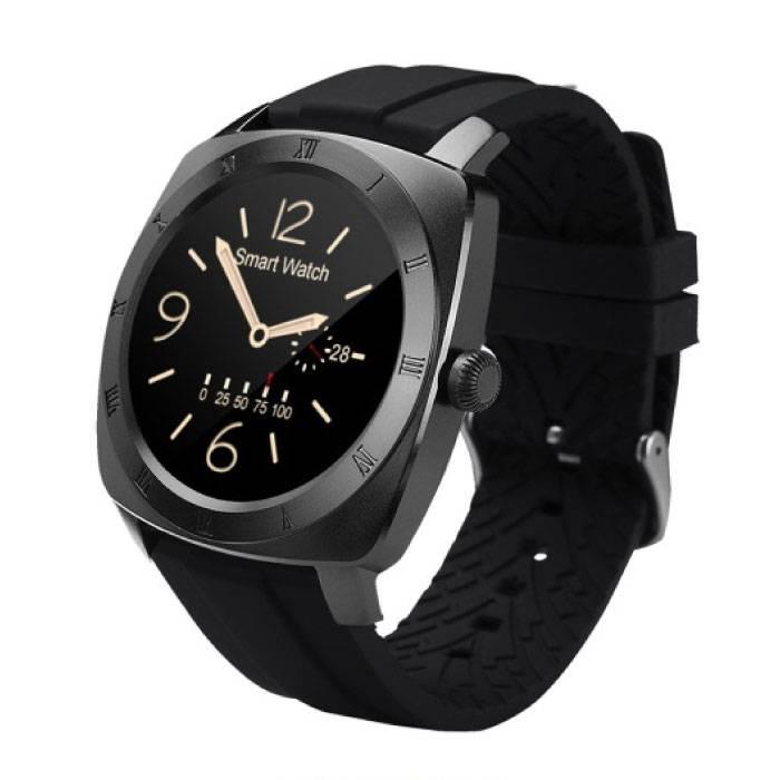 Originele DM88 Smartwatch Smartphone Horloge Android iOS Zwart TPU