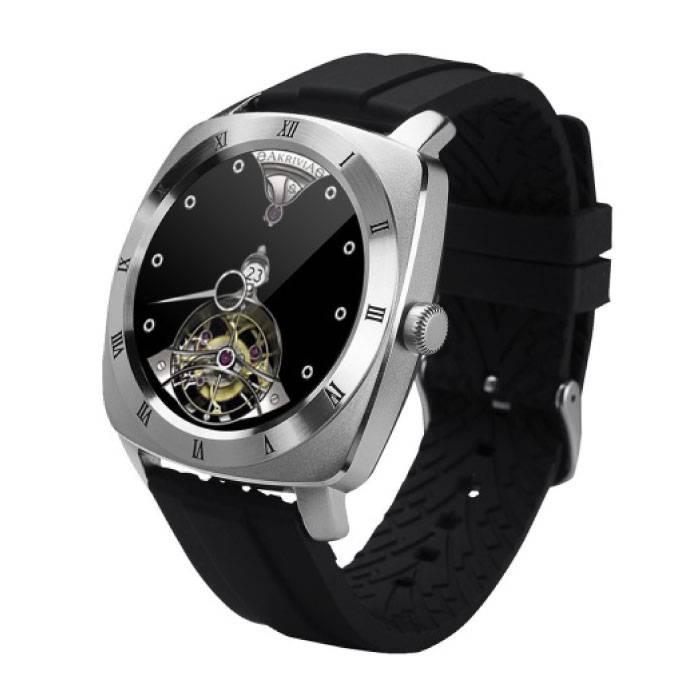 Originele DM88 Smartwatch Smartphone Horloge Android iOS Zilver TPU