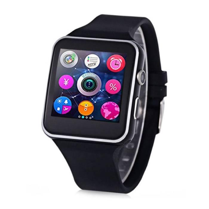 Originele X6S Smartwatch Smartphone Horloge OLED Android iOS Zwart