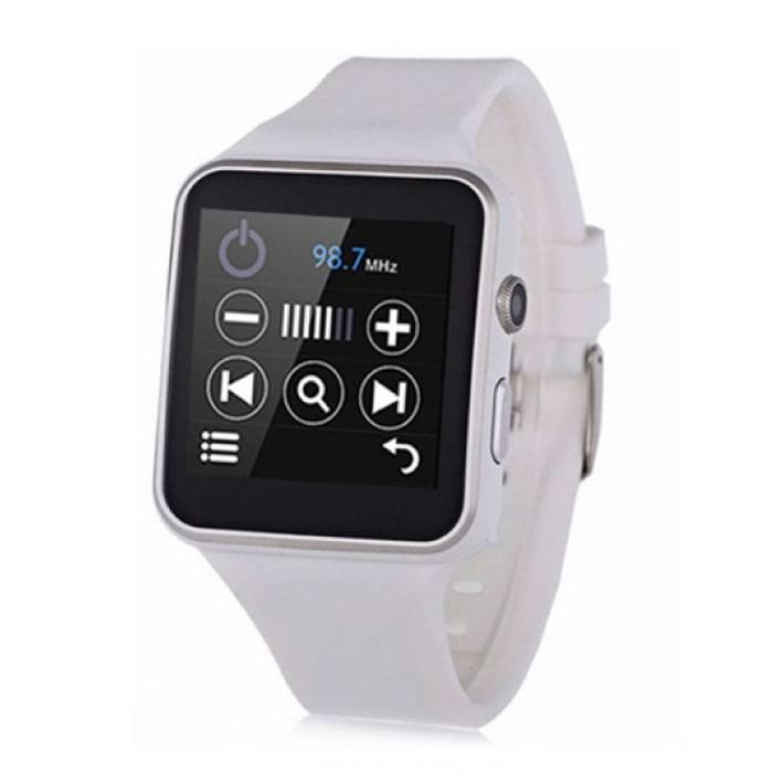 Originele X6S Smartwatch Smartphone Horloge OLED Android iOS Wit