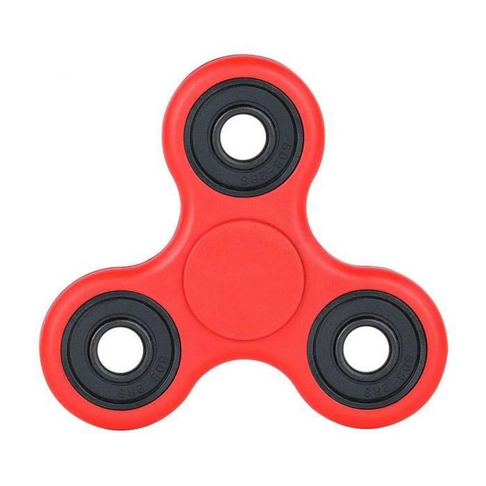Standard Tri Fidget Hand Spinner Anti Stress Draaier Toy Rood