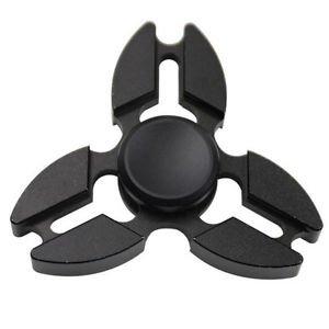 Falcon Tri Fidget Hand Spinner Anti Stress Draaier Toy Zwart