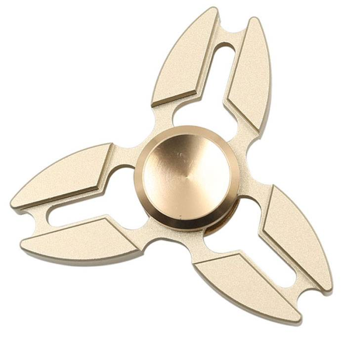 Falcon Tri Fidget Hand Spinner Anti Stress Draaier Toy Goud