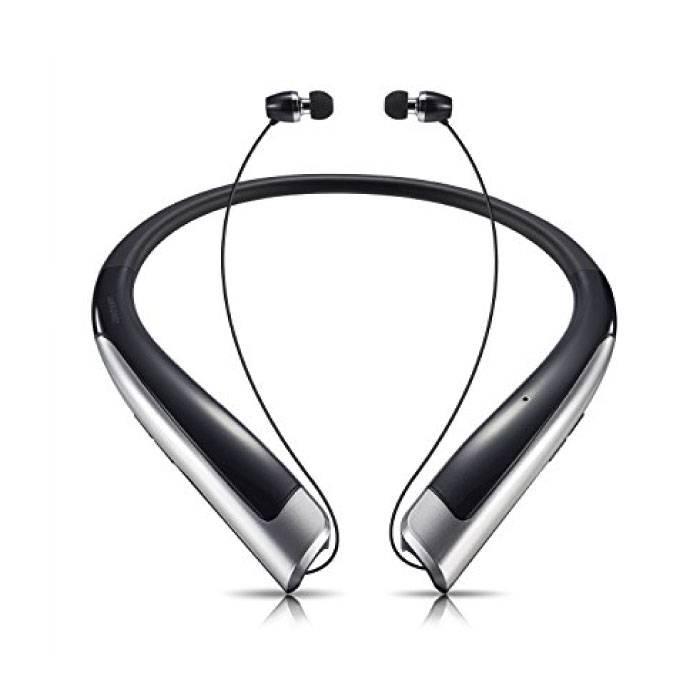 Bluetooth HBX1100 iOS / Android Ears Earphones écouteur Neckband Black - Clear Sound