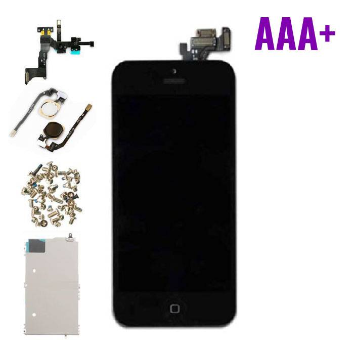 iPhone 5 Pre-mounted screen (Touchscreen + LCD + Onderdelen) AAA+ Quality - Black