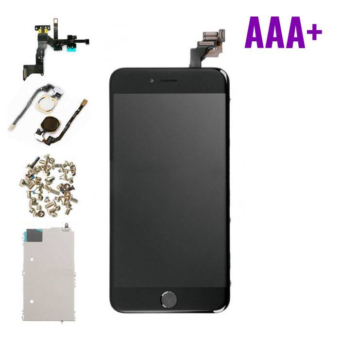 iPhone 6S Plus Pre-mounted screen (Touchscreen + LCD + Onderdelen) AAA + Quality - Black