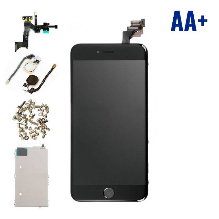 iPhone 6S Plus Pre-mounted display (LCD Touchscreen +) AA + Quality - Black