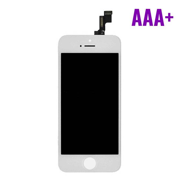 iPhone SE/5S screen (Touchscreen + LCD + Onderdelen) AAA + Quality - White
