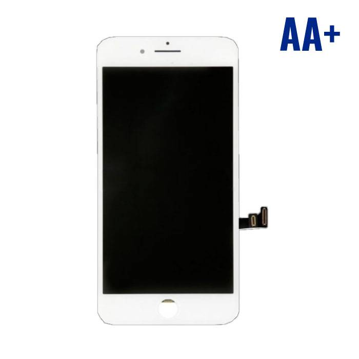 8 iPhone Plus screen (Touchscreen + LCD + Onderdelen) AA + Quality - White