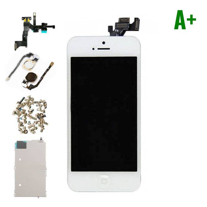 iPhone 5 Pre-mounted screen (Touchscreen + LCD + Onderdelen) A+ Quality - White