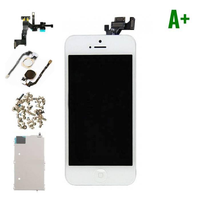 iPhone 5 Voorgemonteerd Scherm (Touchscreen + LCD + Onderdelen) A+ Kwaliteit - Wit