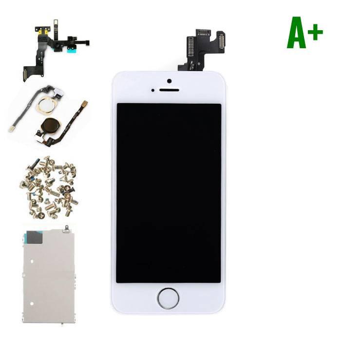 iPhone 5S Voorgemonteerd Scherm (Touchscreen + LCD + Onderdelen) A+ Kwaliteit - Wit