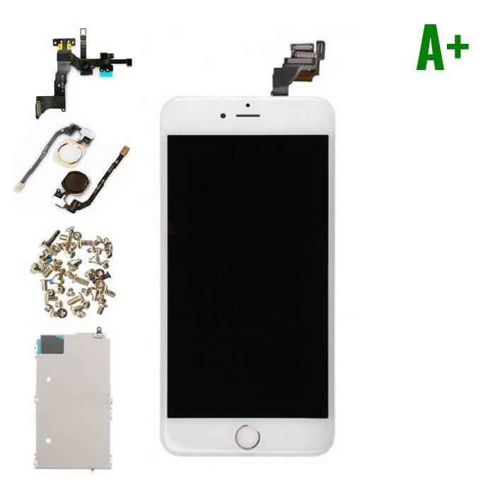 iPhone 6 Plus Pre-mounted screen (Touchscreen + LCD + Onderdelen) A+ Quality - White