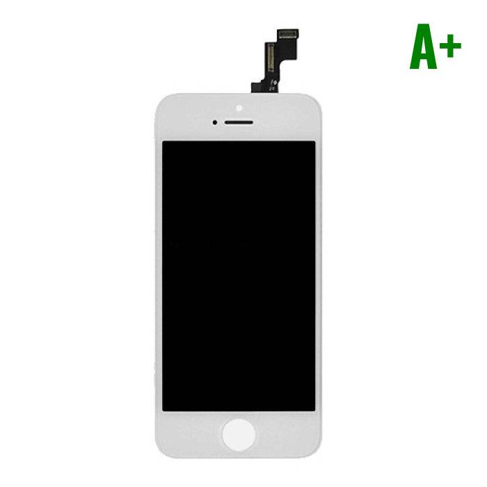 iPhone SE/5S screen (Touchscreen + LCD + Onderdelen) A+ Quality - White