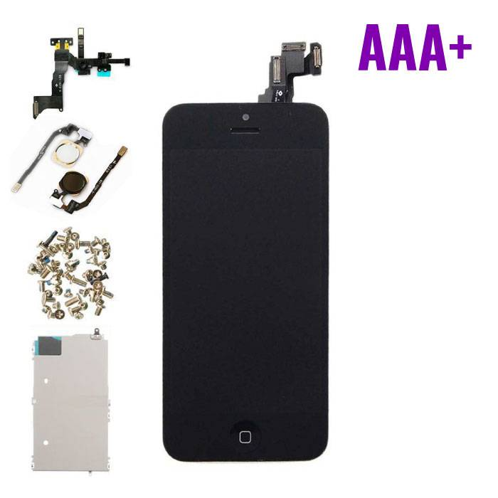 For iPhone 5C Mounted Display (LCD + Touchscreen) AAA + Quality - Black