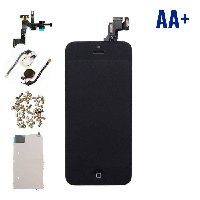 iPhone 5C Voorgemonteerd Scherm (Touchscreen + LCD + Onderdelen) AA+ Kwaliteit - Zwart