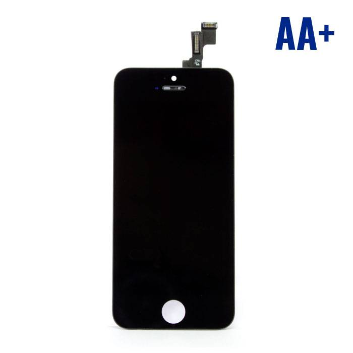 iPhone 5C screen (Touchscreen + LCD + Onderdelen) AA + Quality - Black