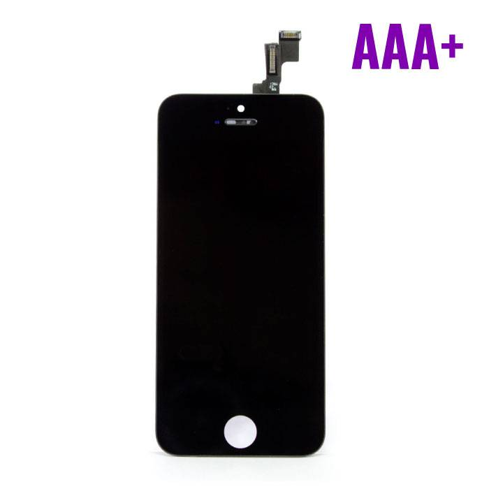 iPhone 5C screen (Touchscreen + LCD + Onderdelen) AAA + Quality - Black