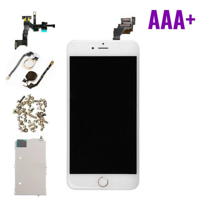 iPhone 6 Plus Pre-mounted screen (Touchscreen + LCD + Onderdelen) AAA+ Quality - White