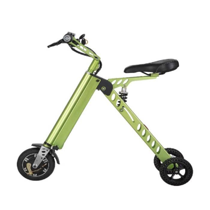 Ultralight Electric Folding Smart e Scooter 250W - 8 inch - three wheels - Green